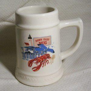 VTG Down East Ceramic Souvenir Ceramic Mug/Stein